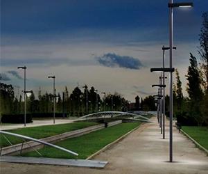 instalación de Poste Promenade LED