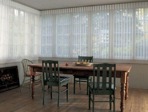 instalación cortinas para comedor