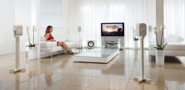 instalación de sistemas de audio para la casa