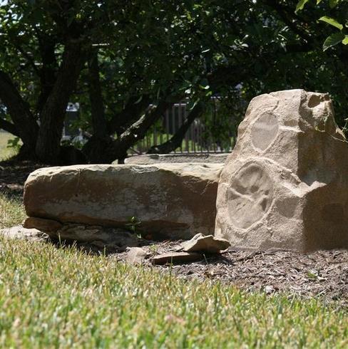 parlante estilo piedra para exteriores